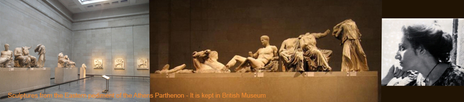 Sculptures from the Eastern pediment of the Athens Parthenon - It is kept in British Museum