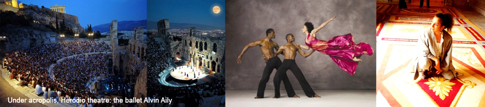 Under acropolis, Herodio theatre: the ballet Alvin Aily